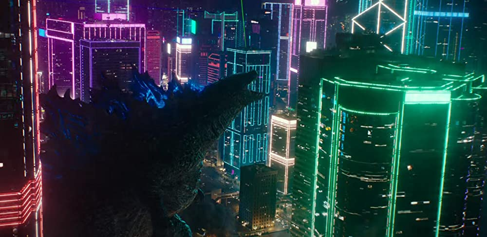 Godzilla about to destroy Hong Kong. (Legendary Pictures)