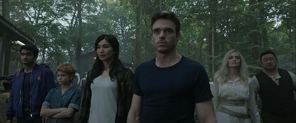 The cast of Marvel's Eternals includes Kumail Nanjiani, Gemma Chan, and Ma Dong-seok, pictured above. (Marvel Studios/Disney)