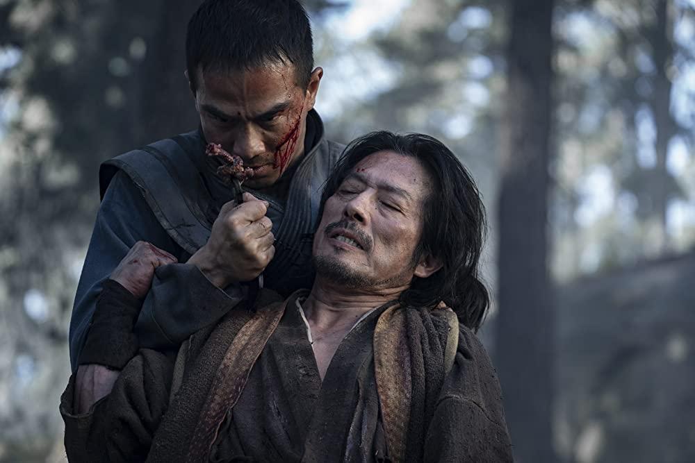 (L-R) Joe Taslim and Hiroyuki Sanada in Mortal Kombat (Mark Rogers/Warner Bros.)