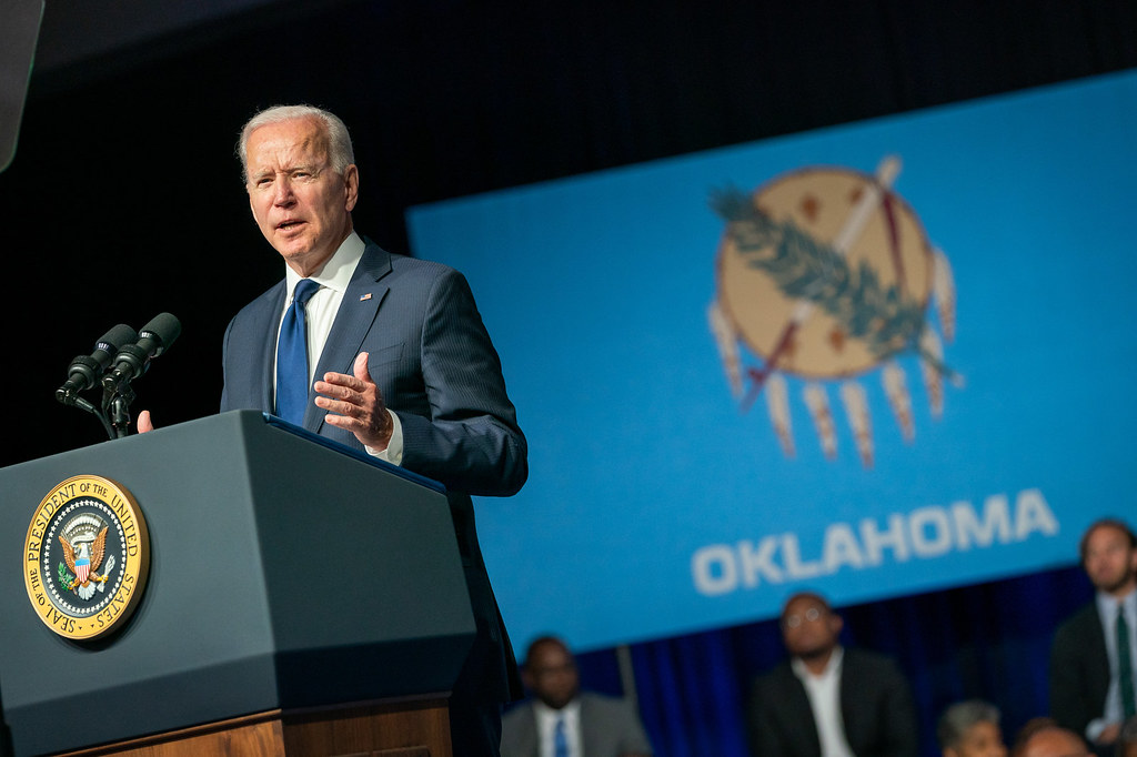 President Joe Biden delivers remarks on the 100th anniversary of the Tulsa Massacre Tuesday, June 1, 2021, at the Greenwood Cultural Center in Tulsa, Oklahoma. (Official White House Photo by Adam Schultz)