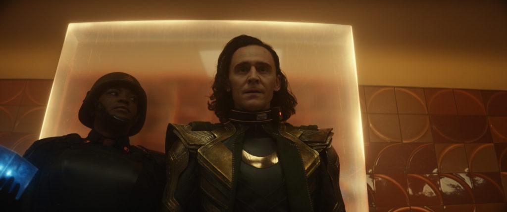 (L-R) Wunmi Mosaku as B-15 and Tom Hiddleston as Loki (Marvel Studios)