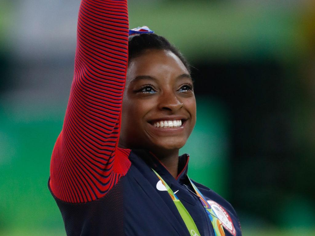 Simone Biles at the Rio Olympics in 2016. (Fernando Frazão/Agência Brasil)